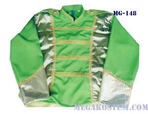 baju seragam drumband hijau silver