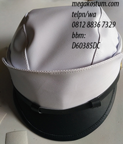 contoh topi drumband polisi