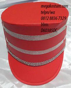 desain topi pasukan merah silver