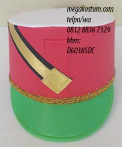 desain topi drumband dan marchingband